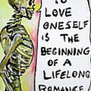 Skull Quoting Oscar Wilde.9 Print by Fabrizio Cassetta