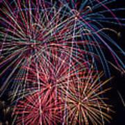 Sky Full Of Fireworks Print by Garry Gay