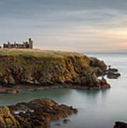 Slains Castle Sunrise Print by Dave Bowman