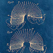 Slinky Toy Blueprint Print by Edward Fielding