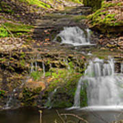 Small Falls At Parfrey's Glen Print by Jonah  Anderson