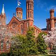 Smithsonian Castle Wall Print by Inge Johnsson