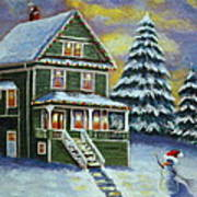 Snow Day Print by Melanie Cossey