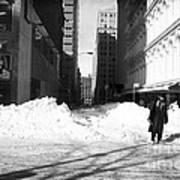 Snow On Broadway 1990s Print by John Rizzuto