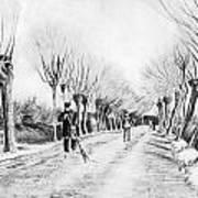 Snow Scene At Etten Print by Vincent van Gogh