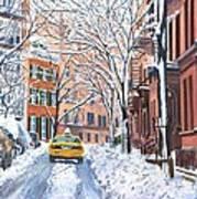 Snow West Village New York City Print by Anthony Butera