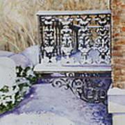 Snowy Ironwork Print by Patsy Sharpe
