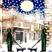 Snowy Night Print by Patrick J Murphy