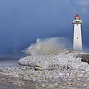 Sodus Bay Lighthouse Print by Everet Regal