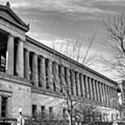 Soldier Field In Black And White Print by David Bearden