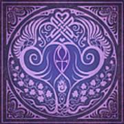Soul Mates - Purple Print by Cristina McAllister