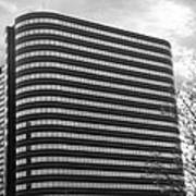 Soutfield Round Hi Rise Black And White Print by Bill Woodstock