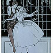 Spectre De La Rose Print by Georges Barbier
