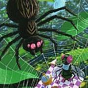 Spider Picnic Print by Martin Davey