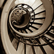 Spiral Staircase Print by Sebastian Musial