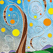 Spiralscape Print by Shawna Rowe