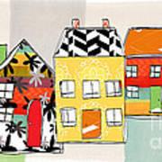 Spirit House Row Print by Linda Woods