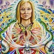 Spirit Portrait Print by Morgan  Mandala Manley