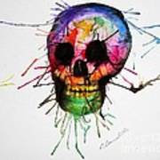 Splatter Skull Print by Christy Bruna