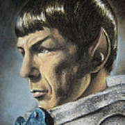 Spock - The Pain Of Loss Print by Liz Molnar