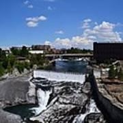 Spokane Falls And Riverfront Print by Michelle Calkins