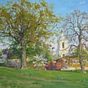 Spring In Kaluga Print by Victoria Kharchenko