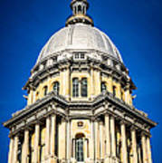 Springfield Illinois State Capitol Dome Print by Paul Velgos