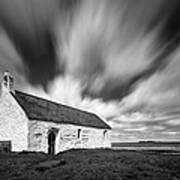 St Cwyfan's Church Print by Dave Bowman