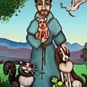 St. Francis Libertys Blessing Print by Victoria De Almeida