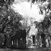 St Helena Chapel Of Ease Bw 2 Print by Steven  Taylor