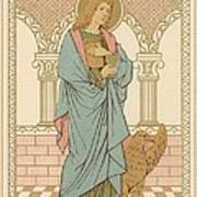 St John The Evangelist Print by English School