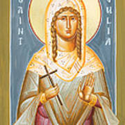 St Julia Of Carthage Print by Julia Bridget Hayes