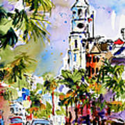 St Michael's Church Charleston South Carolina Print by Ginette Callaway