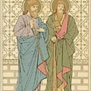 St Philip And St James Print by English School