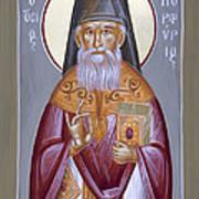 St Porphyrios The Kavsokalyvitis Print by Julia Bridget Hayes