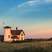 Stage Harbor Lighthouse Print by Bill Wakeley