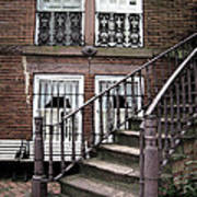 Staircase And Shutters Print by Linda Ryan