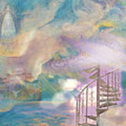 Stairway To Heaven Print by Anne Cameron Cutri