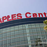 Staples Center Sign In Los Angeles California Print by Paul Velgos