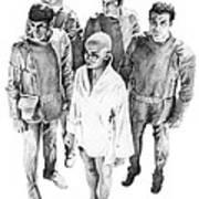Star Trek - Meeting With V'ger Print by Liz Molnar
