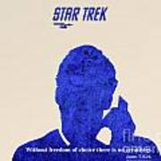 Star Trek Original - Kirk Quote Print by Pablo Franchi