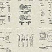 Star Trek Patent Collection Print by PatentsAsArt