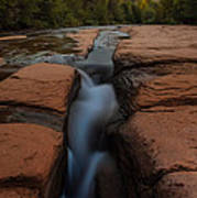 Starry Night Sluice Box Photography At Red Rock Crossing Print by Mike Berenson