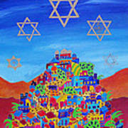 Stars Above Jerusalem Print by Dawnstarstudios