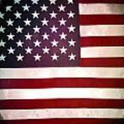 Stars And Stripes Print by Les Cunliffe