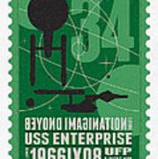 Starschips 34-poststamp - Uss Enterprise Print by Chungkong Art