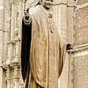 Statue Of Pope John Paul II Print by Jess Kraft