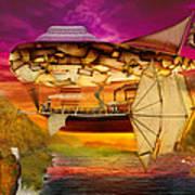 Steampunk - Blimp - Everlasting Wonder Print by Mike Savad