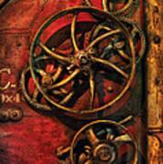 Steampunk - Clockwork Print by Mike Savad