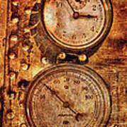 Steampunk - Gauges Print by Mike Savad